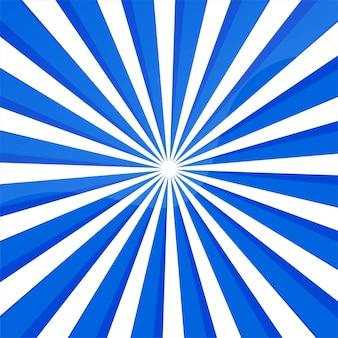 Abstrait lignes bleues avec des rayons