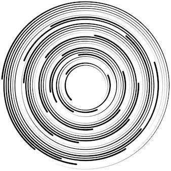 Abstrait avec des lignes. cercles avec place pour votre texte sur fond blanc.