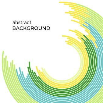 Abstrait avec des lignes colorées arc-en-ciel lumineux. cercles colorés avec place pour votre texte sur fond blanc.