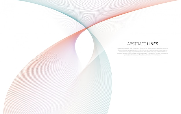 Abstrait des lignes de couleur de luxe
