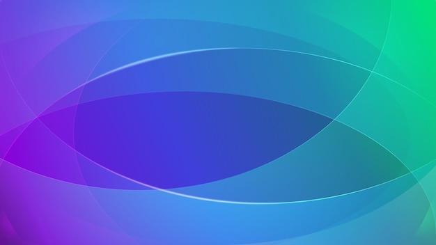 Abstrait de lignes courbes aux couleurs turquoises