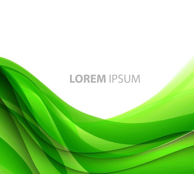 Abstrait de lignes courbes. conception de brochure modèle