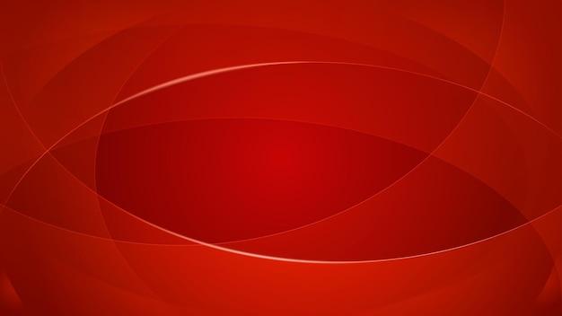 Abstrait de lignes courbes en couleurs rouges