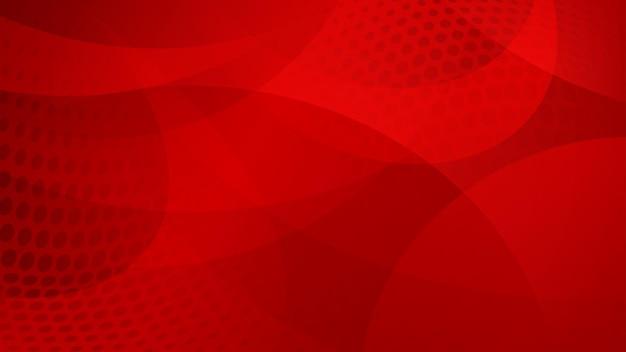 Abstrait de lignes courbes, de courbes et de points de demi-teintes dans les couleurs rouges