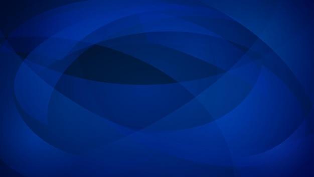 Abstrait de lignes courbes dans des couleurs bleues