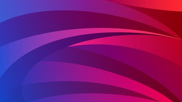 Abstrait de lignes courbes dans les couleurs rouge et violet