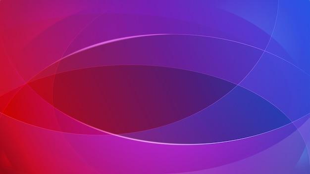 Abstrait de lignes courbes dans des couleurs violettes