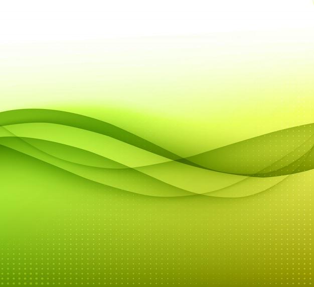 Abstrait de lignes courbes. modèle de brochure