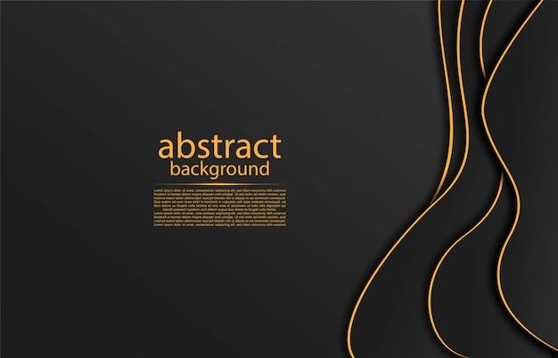 Abstrait avec des lignes dorées