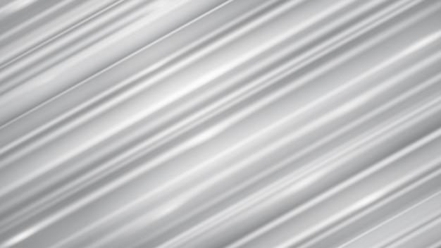 Abstrait de lignes droites inclinées avec des reflets dans des couleurs blanches et grises