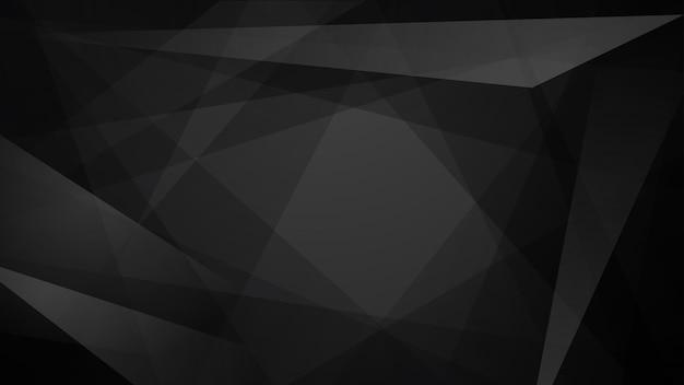 Abstrait de lignes droites qui se croisent et de polygones en couleurs noires