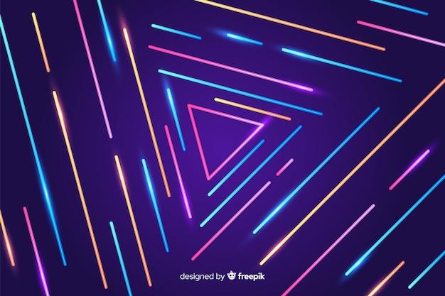 Abstrait de lignes géométriques colorées
