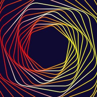Abstrait de lignes géométriques. illustration vectorielle