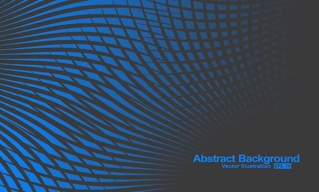 Abstrait avec des lignes de gradation noires et bleues.