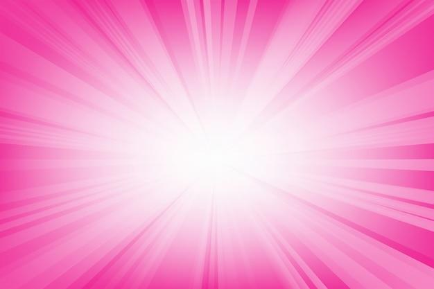 Abstrait des lignes de lumière lisses rose.