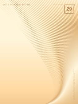 Abstrait de lignes de luxe en or, fond de brochure