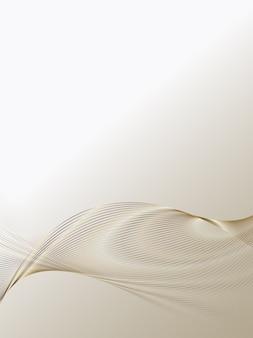 Abstrait de lignes de luxe en or