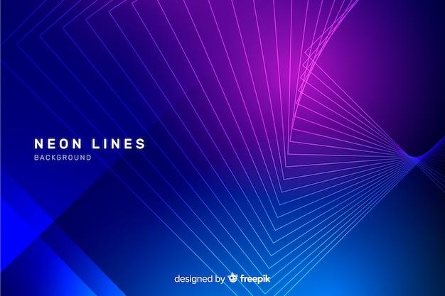 Abstrait lignes néon