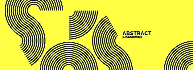 Abstrait avec des lignes noires. illustration vectorielle dans un style plat et minimaliste