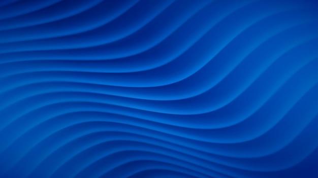 Abstrait avec des lignes ondulées dans des couleurs bleues