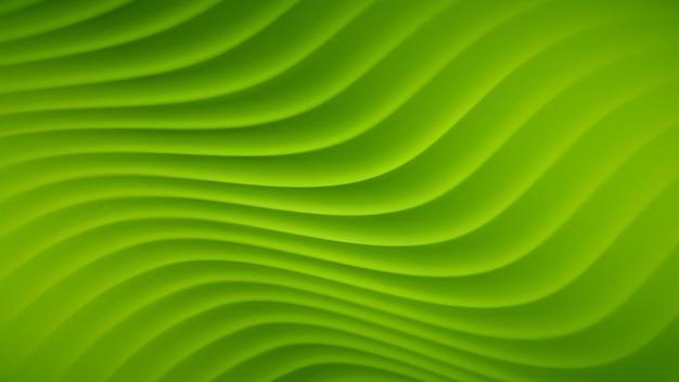 Abstrait avec des lignes ondulées dans des couleurs vertes