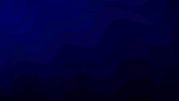 Abstrait de lignes ondulées dans les tons bleu foncé