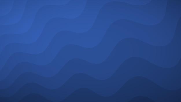 Abstrait de lignes ondulées dans les tons de bleu