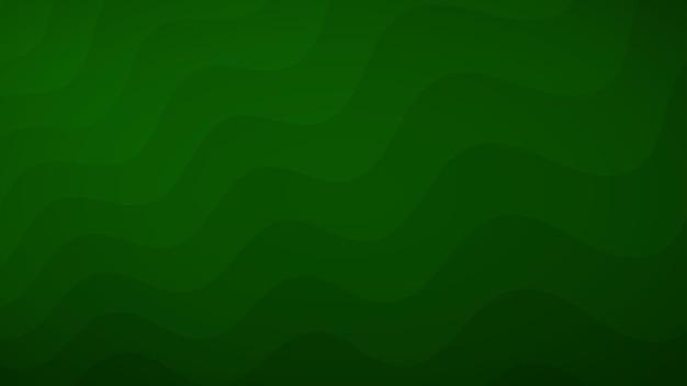 Abstrait de lignes ondulées dans les tons de vert