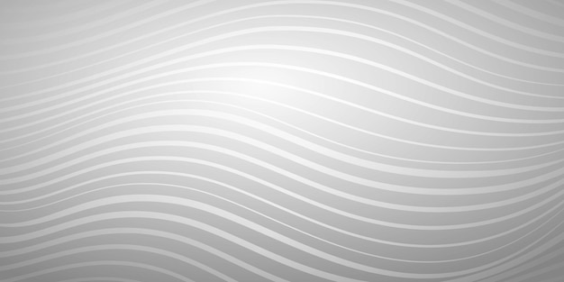 Abstrait de lignes ondulées de différentes épaisseurs dans des couleurs grises