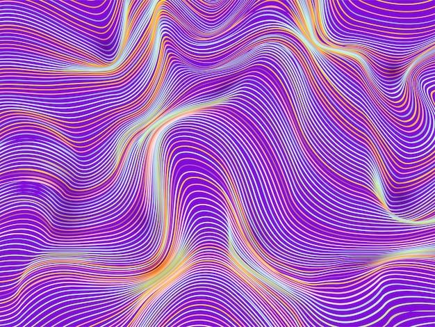 Abstrait avec des lignes ondulées obliques.