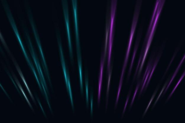 Abstrait de lignes de perspective néon bleu et rose. illustration vectorielle.