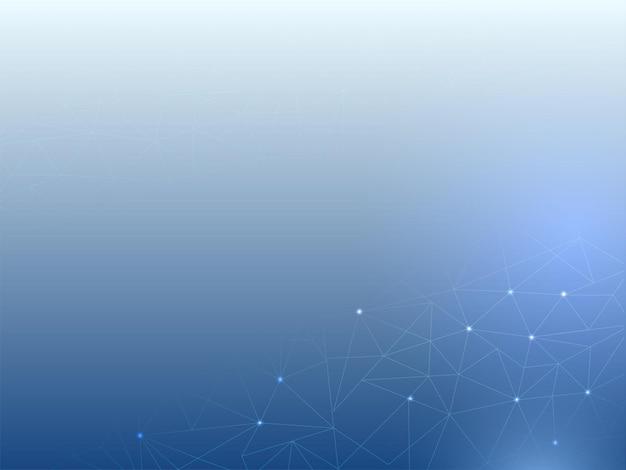 Abstrait de lignes polygonales en couleur bleue.