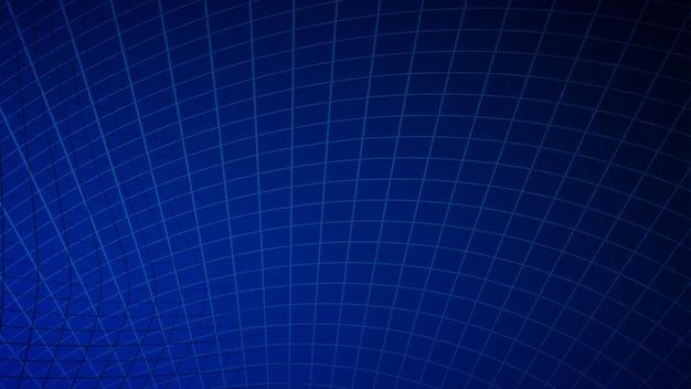 Abstrait de lignes et de rectangles aux couleurs bleues