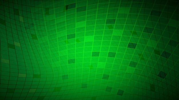 Abstrait de lignes et de rectangles en couleurs vertes