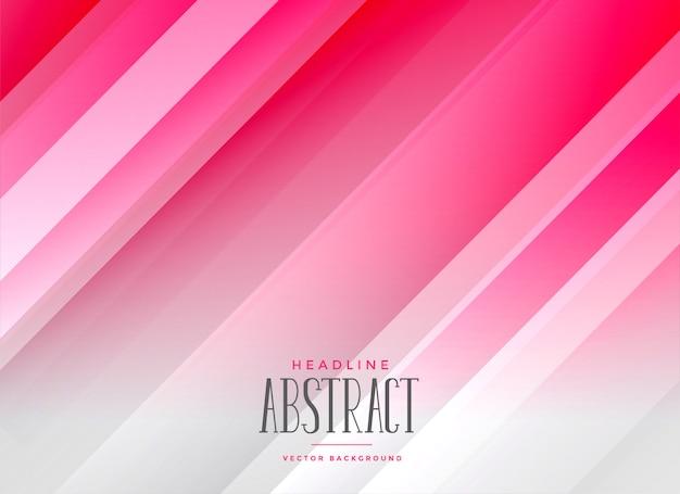 Abstrait lignes roses élégantes