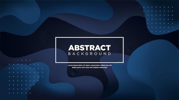 Abstrait liquide de couleur bleu foncé