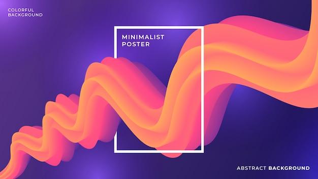 Abstrait liquide orange et violet