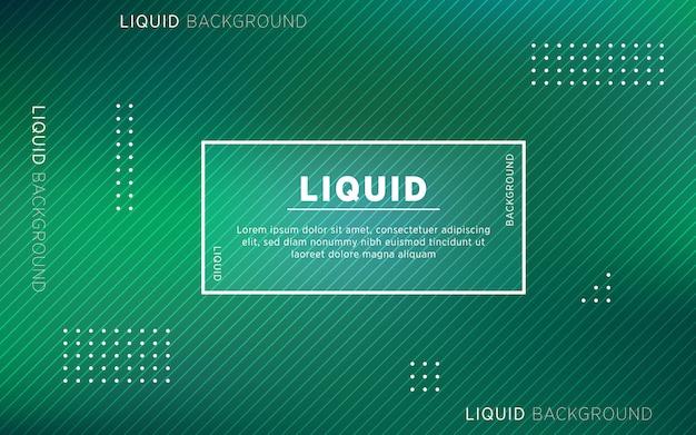 Abstrait liquide vert