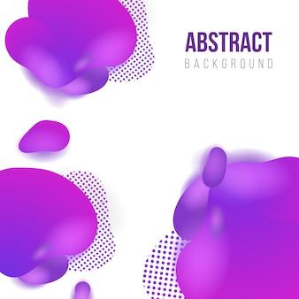 Abstrait liquide violet