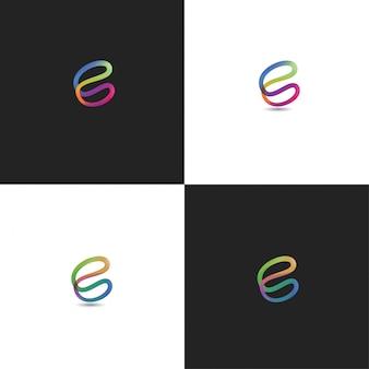 Abstrait c logo design coloré