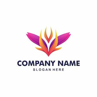 Abstrait logo moderne fleur