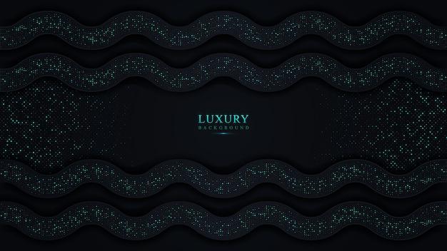 Abstrait de luxe bleu foncé. belle lumière scintillante avec des points scintillants futuristes