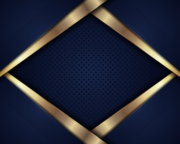 Abstrait luxe bleu foncé avec couche de chevauchement