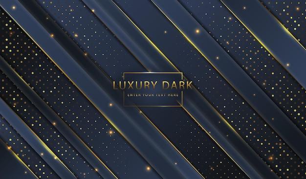 Abstrait luxe doré élégant fond sombre