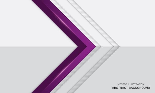 Abstrait de luxe moderne blanc et violet