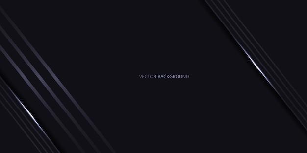 Abstrait de luxe moderne noir avec des ombres et des lignes claires.