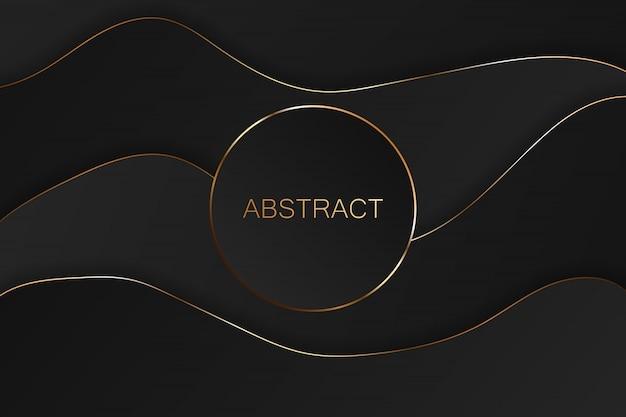 Abstrait luxe noir et or.