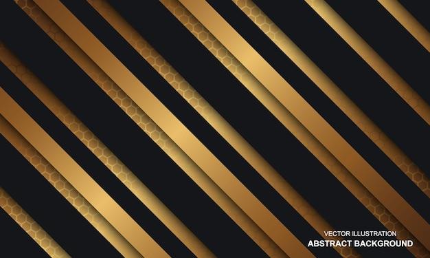 Abstrait luxe noir et or