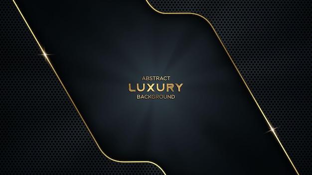 Abstrait de luxe sombre et doré tech