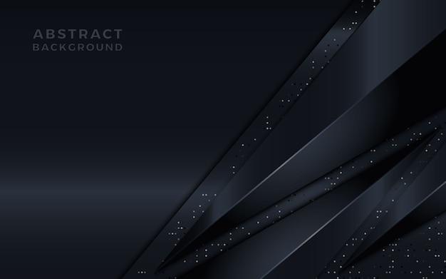 Abstrait luxe sombre avec de la lumière sur la forme du triangle.